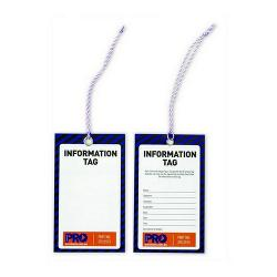 INFORMATION BLANK SAFETY TAG PK100