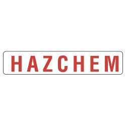 SIGN HAZCHEM METAL 600X125