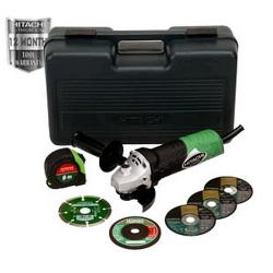 HITACHI 100MM ANGLE GRINDER 730W WITH BONUS PACK G10SR4-BP