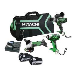 HITACHI 18V 3PCE KIT WH18/DV18/G18DSL 2X5.0AH BATT BAG KC18DGDL(HJ)
