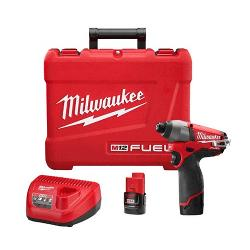MILWAUKEE 12V BRUSHLESS IMPACT DRIVER KIT 2X2.0AH