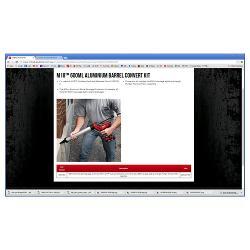 MILWAUKEE CAULKING GUN CONV KIT 600ML SAUSAGE 48081093