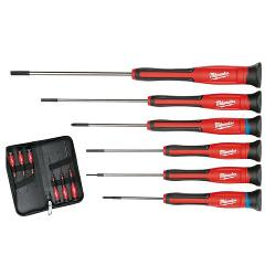 MILWAUKEE 6PCE PECISION SCREWDRIVER SET IN WALLET 48222606