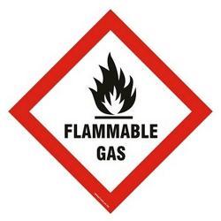 SIGN HAZCHEM FLAM GAS POLY 250