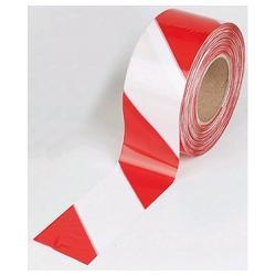 BARRIER TAPE RED / WHITE DANGER 75MM