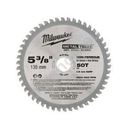 MILWAUKEE COLD CUT BLADE 135MM 50T NON FERROUS 48404075