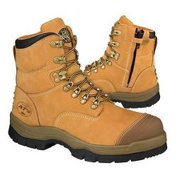 OLIVER SAFETY BOOTS ZIP SIZE7 WHEAT 55232Z