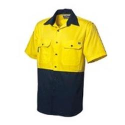 WORKSHIRT VENTED BACK (XL) YELLOW / NAVY