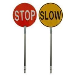 STOP / SLOW SIGN 450MM DIA