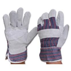 CANDY STRIPE GLOVES LARGE 417PB COTTON / LEATHER PARAMOUNT