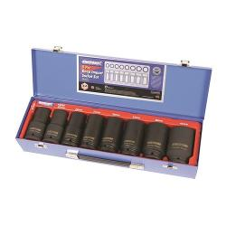 KINCROME DEEP IMPACT SOCKET SET 8PC 3/4 INCH DVE MET K2080