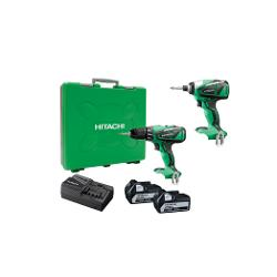 HITACHI 18V BRUSHLESS 2PCE KIT WH18/DV18 2X5.0AH BATTS KC18DBEL(HJ)