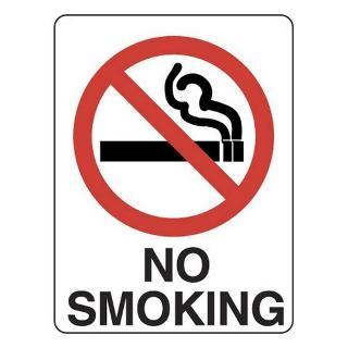 SIGN NO SMOKING METAL 300 X 225MM 402MM