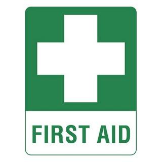 SIGN FIRST AID POLY 225X300