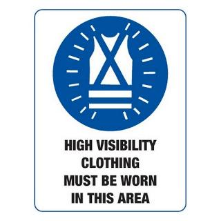 SIGN HIGH VISIBILITY CLOTHING MUST BE WORN 600X450 METAL