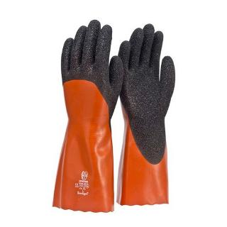 FRONTIER CORAL CHEMICAL GLOVE 35CM RED / BLACK L