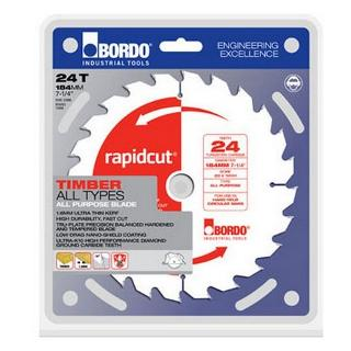 BORDO SAW BLADE TIMBER 184MM 60T RAPIDCUT 7452-18460
