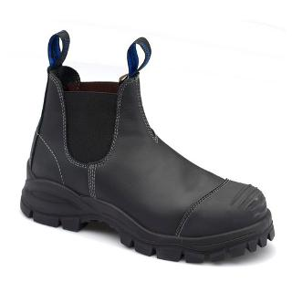 BLUNDSTONE SAFETY BOOTS SIZE7 BLACK STYLE 990