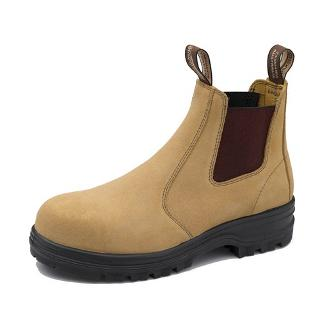 BLUNDSTONE SAFETY BOOTS SIZE9.5 FAWN SUEDE STYLE 145